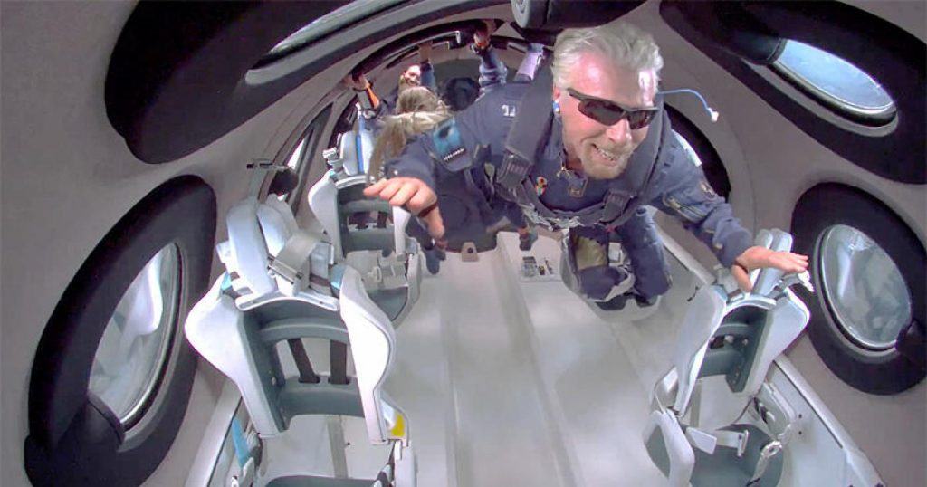 Richard Branson and Virgin Galactic complete successful space flight